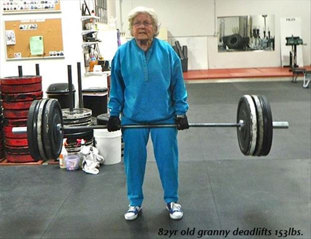 older women lifting