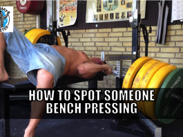 how to spot someone bench pressing